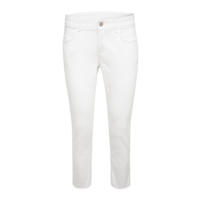 Weiße Cropped Jeans