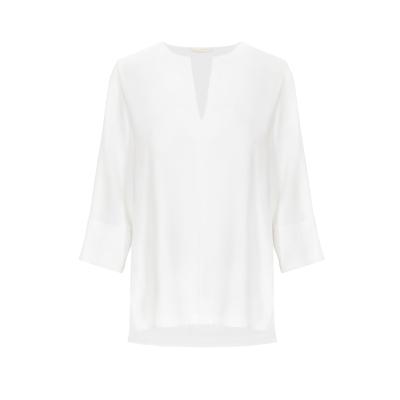 Weiße Tunika Bluse