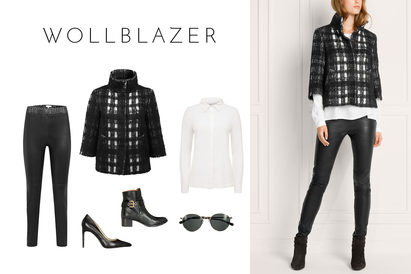 Black & White - Fashion Tipp: Wollblazer