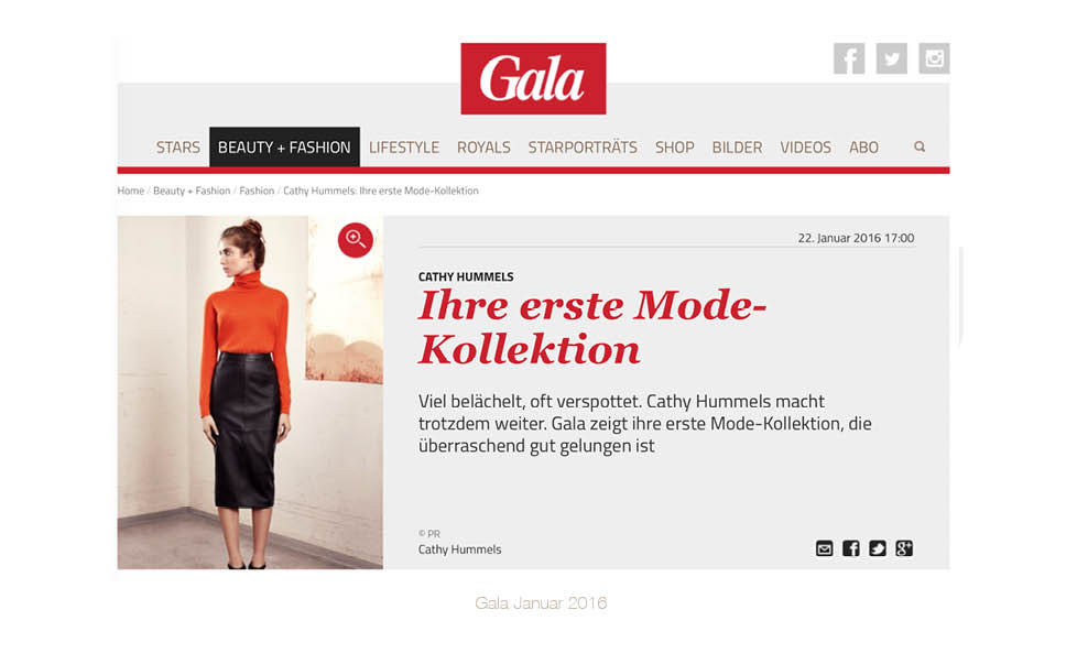 Catherine Hummels - Gelesen in GALA