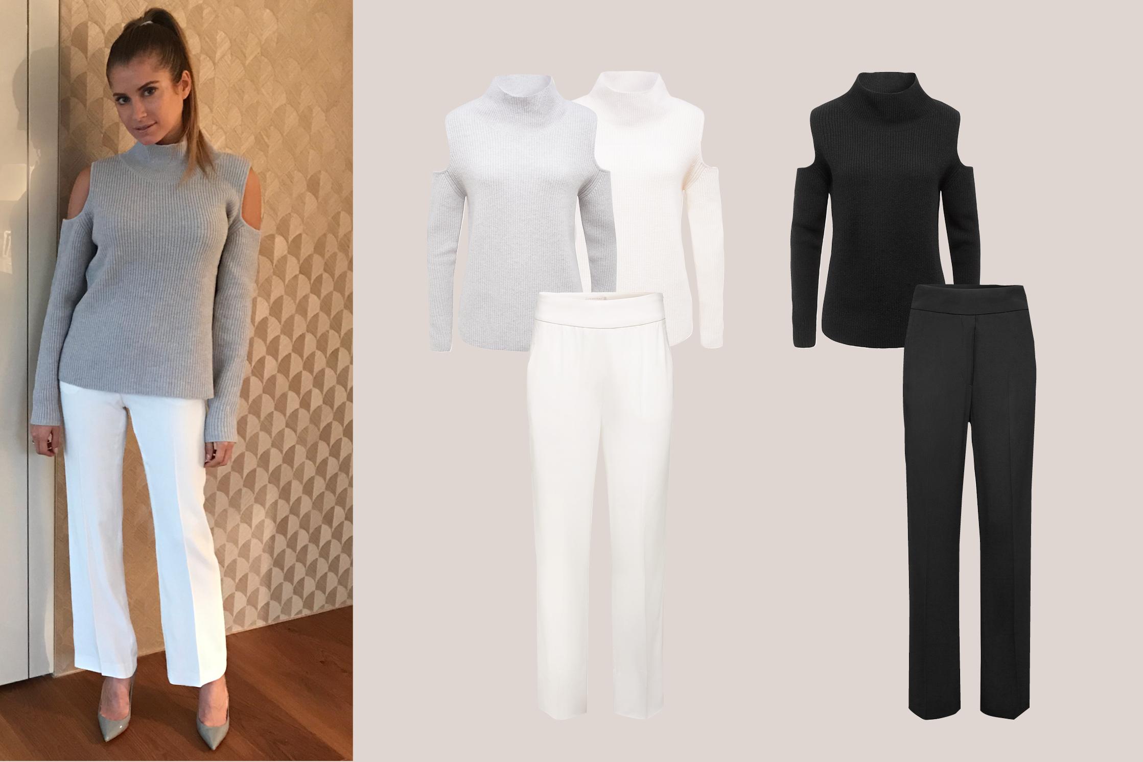 Cold-Shoulder im Rippenstrick - Fashion Must-Have für den Frühling